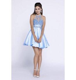 Ice Blue Jeweled Short Dress Size M