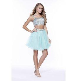 Mint Jeweled Two Piece Short Dress Size M