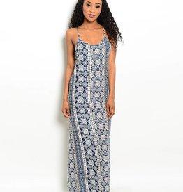 Navy Ivory Maxi Dress