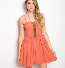 Rust Short Dress