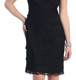 Black Lace Short Dress Size 3XL