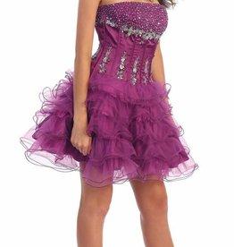 Magenta Jeweled Short Dress Size 4
