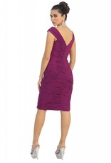 Magenta Pleated Short Dress Size 8