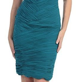 Teal Pleated Short Dress Size 6