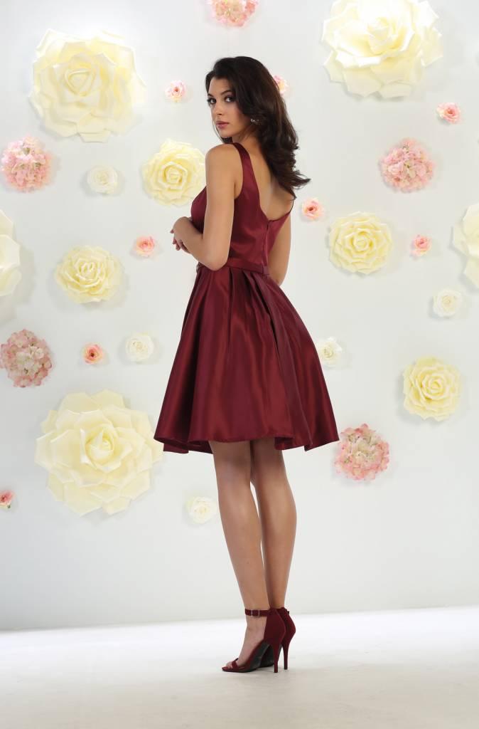 Burgundy Jeweled Short Dress Size 6
