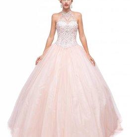 Blush Jeweled Long Dress Size XS