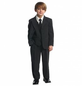 Black Stripe Polyester Boys 5pc Suit Size 4