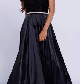 Black Jeweled Long Dress Size M