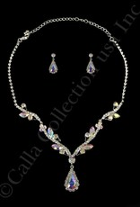 Iridescent Necklace & Earrings