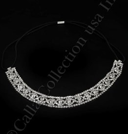 Silver Rhinestone Headband or Belt