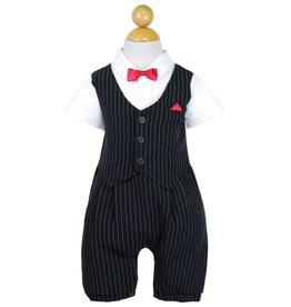 Black Stripe Baby Boys Romper Size M