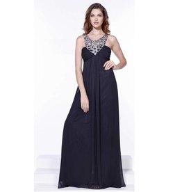 Black Jeweled Long Dress Size L