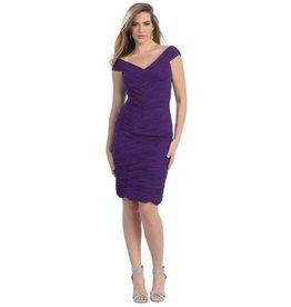 Eggplant Pleated Short Dress Size 10