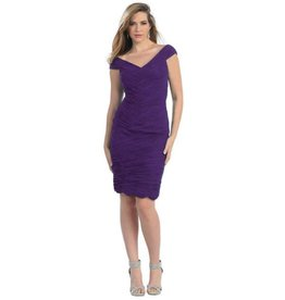 Eggplant Pleated Short Dress Size 12