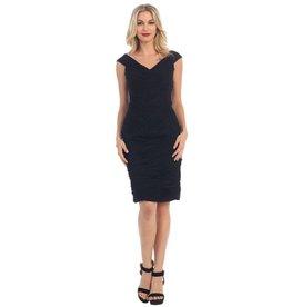 Black Pleated Short Dress Size 8
