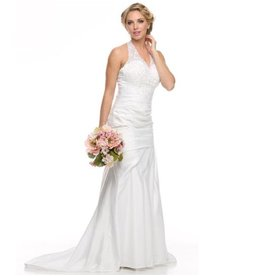 White Jeweled Bridal Gown Size XS