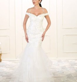 Ivory Jeweled Bridal Gown Size 8