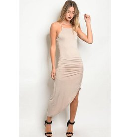 Sand High Low Dress
