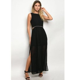 Black Jeweled Long Dress
