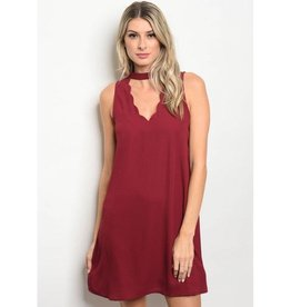Burgundy Short Dress