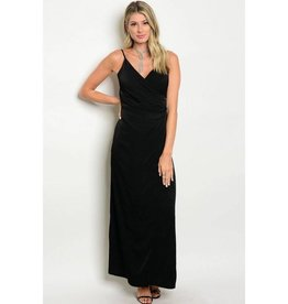 Black Satin Long Dress