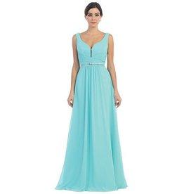 Aqua Long Dress Size L