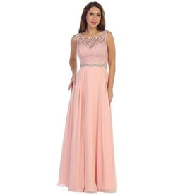 Blush Jeweled Long Dress Size S