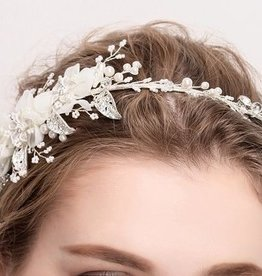 Ivory Pearl and Flower Headpiece