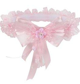 Girls Pink Floral Ribbon Crown