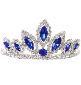 Royal Blue Jeweled Crown