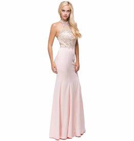 Blush Jeweled Long Dress Size M