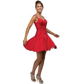 Red Jeweled Short Dress Size XS