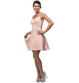 Blush Jeweled Short Dress Size M