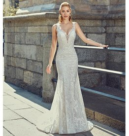 Champagne/Ivory MD259 Bridal Gown Size 6