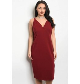 Burgundy Tank Top Short Dress