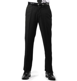 Premium Mens Black Regular Fit Dress Pants Size 44