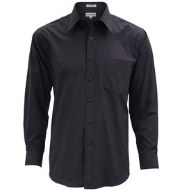 Mens Black Regular Fit Dress Shirt Size 2XL 18