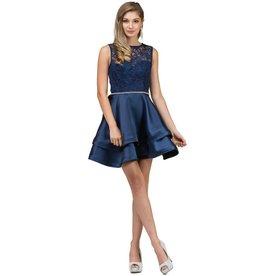 Navy Jeweled Short Dress Size L