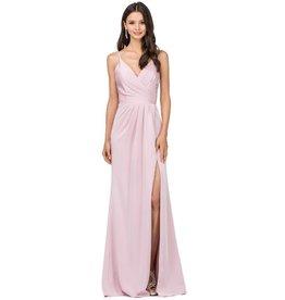 Blush Draped Long Dress Size L
