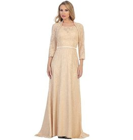 Champagne Long Dress With Jacket Size L