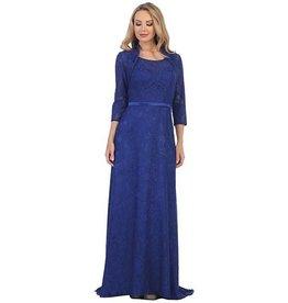 Royal Blue Long Dress With Jacket Size M