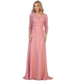 Rose Long Dress With Jacket Size 2XL