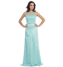 Aqau Jeweled Long Dress Size XS