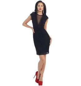 Black Lace Short Dress Size 4