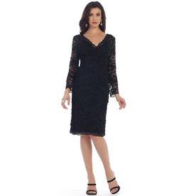 Black Long Sleeve Short Dress Size L