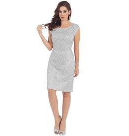 Silver Short Dress Size 4XL