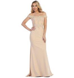 Champagne Long Dress Size S