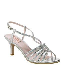 "Diva Silver Shimmer 2.25"" Heel Size 7.5"