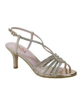 "Diva Champagne Glitter 2.25"" Heel Size 9"