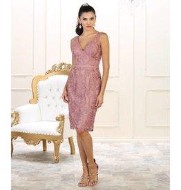 Mauve Lace Short Dress Size 12